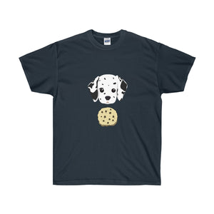 Cookie-loving Dalmatian Pup Unisex Ultra Cotton Tee - Discount Home & Office