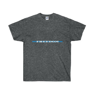 Thin Blue Line Freedom Unisex Ultra Cotton Tee - Discount Home & Office