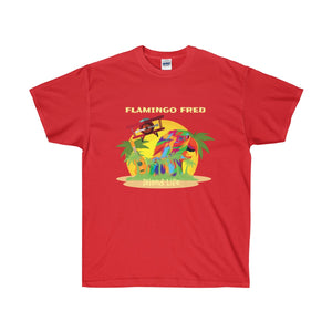 Flamingo Fred Island Life Technicolor Parrot Unisex Ultra Cotton Tee - Discount Home & Office