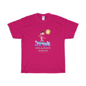 Surf Planet Love Unisex Heavy Cotton Tee - Discount Home & Office