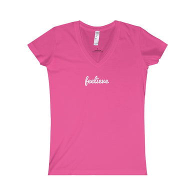 Feelieve Women's Fine Jersey V-neck Tee - Discount Home & Office