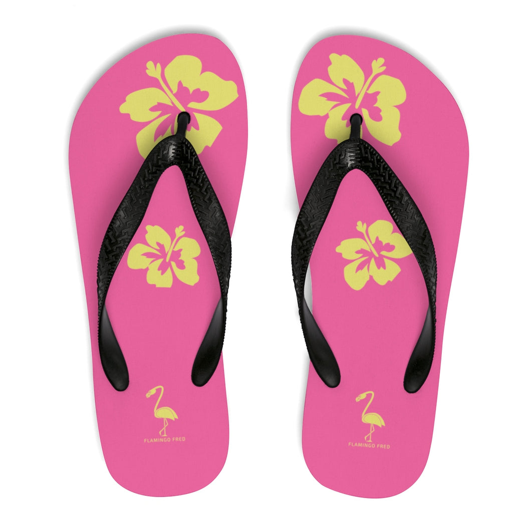 Hibiscus Dreams Unisex Flip-Flops - Discount Home & Office