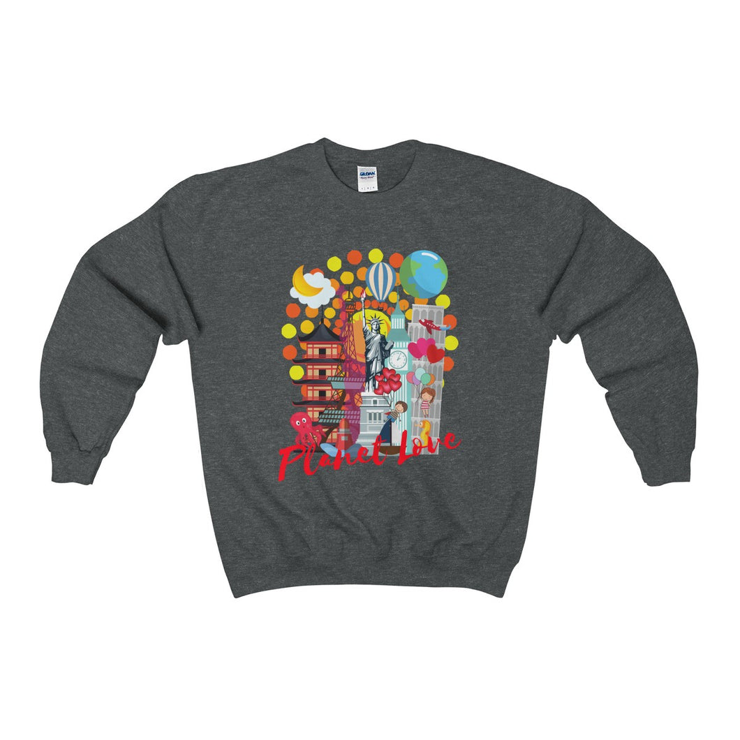 Planet Love Collage Crewneck Sweatshirt - Discount Home & Office