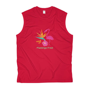 Bird of Paradise Island Life Men's Sleeveless Performance Tee - Discount Home & Office