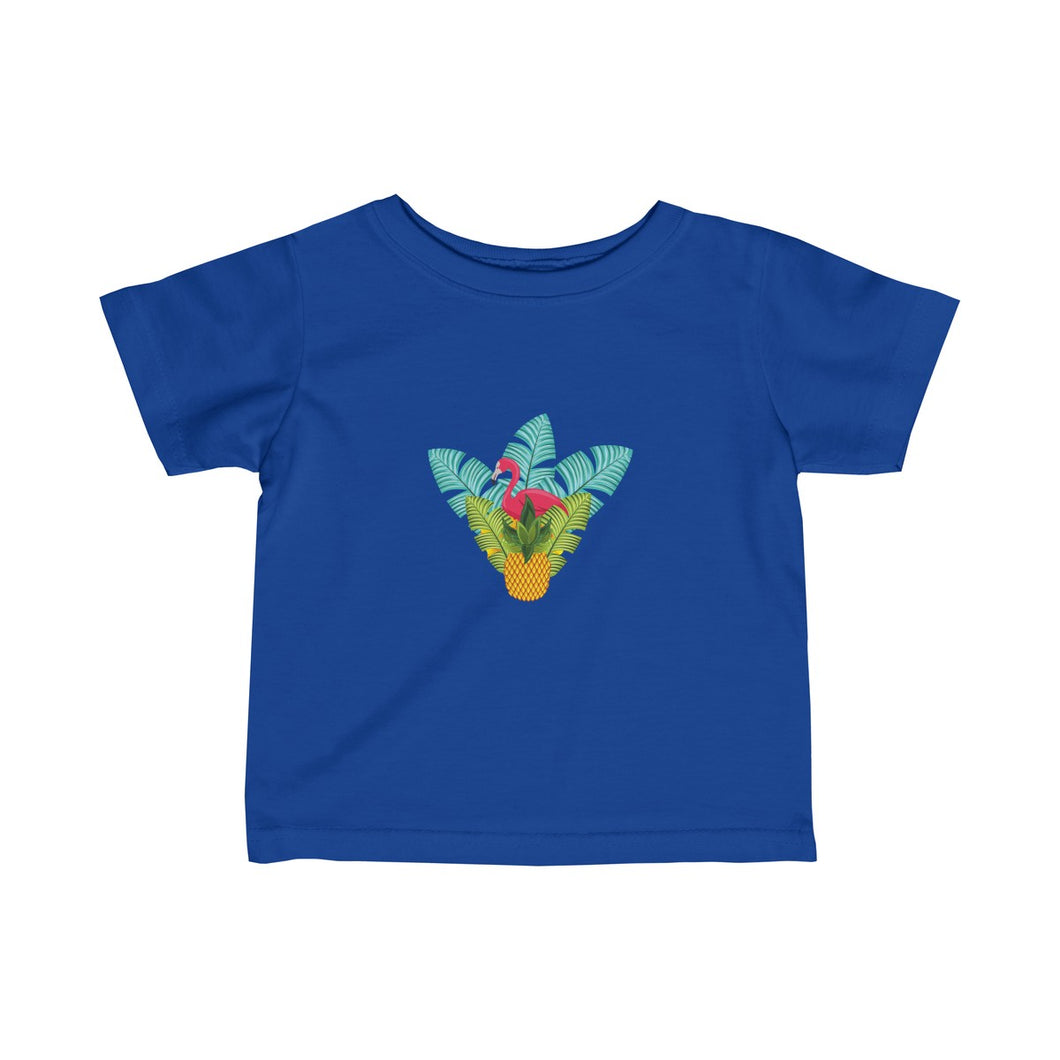 Flamingo Tropical Hideaway Infant Fine Jersey Tee - Discount Home & Office