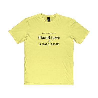 All I Need Is Planet Love & A Ball Game Young Men's Tee - Discount Home & Office