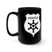 I Love The Police Badge Black Mug 15oz - Discount Home & Office