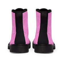 Pink Honeycomb Women's Martin Boots - Discount Home & Office
