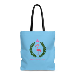 Flamingo Fred Wreath AOP Beach Bag - Discount Home & Office