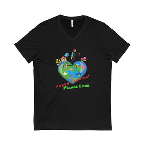 Happy Landing! Planet Love Unisex V-Neck Tee - Discount Home & Office