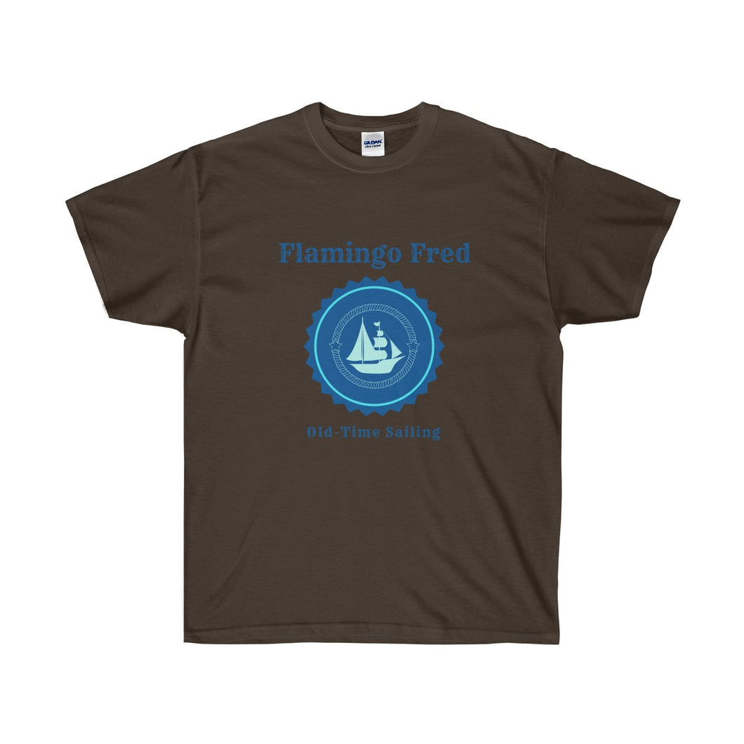 Flamingo Fred Old-Time Sailing Unisex Ultra Cotton Tee - Discount Home & Office