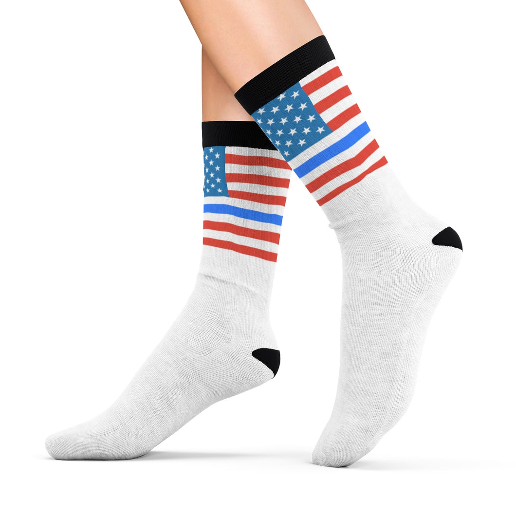 Thin Blue Line & Old Glory Socks - Discount Home & Office