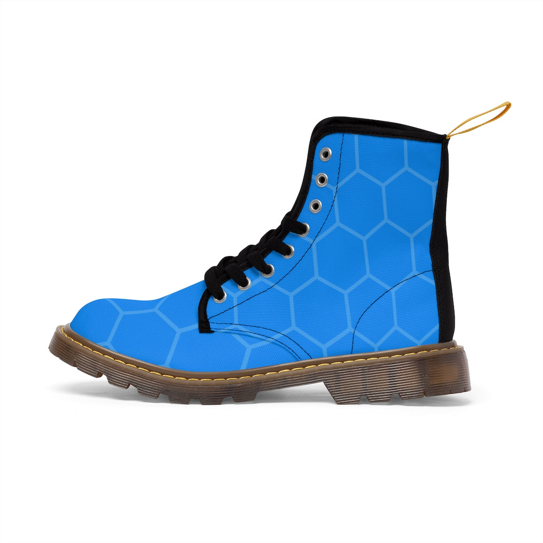 Blue Honeycomb Men's Martin Boots - Discount Home & Office