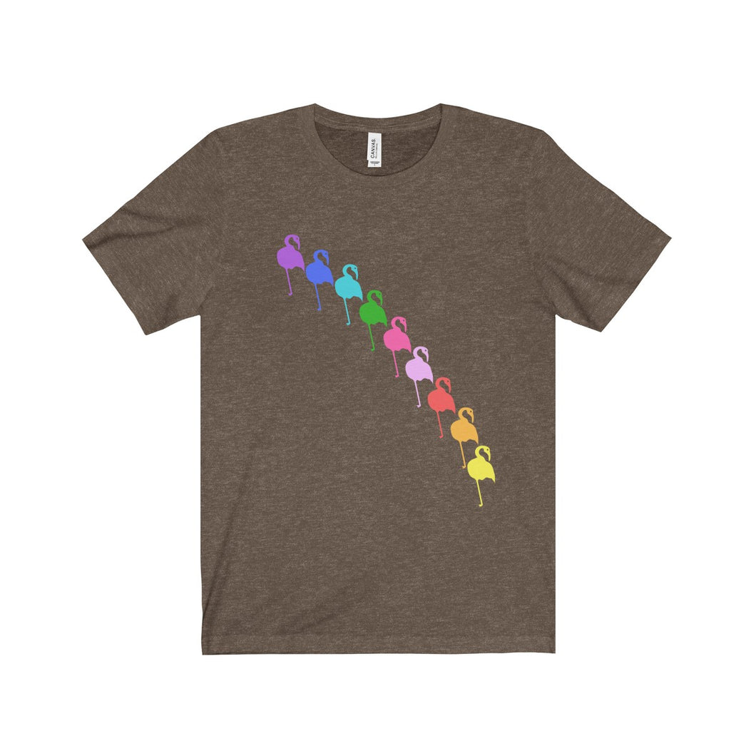 Rainbow Flamingo Unisex Jersey Tee - Discount Home & Office