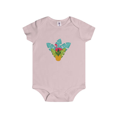 Flamingo Tropical Hideaway Infant Rip Snap Tee Onesies - Discount Home & Office