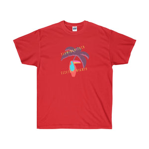 Flamingo Fred Electric Nights Unisex Ultra Cotton Tee - Discount Home & Office