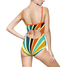 Retro Superstar Women's One-piece Hollow-out Back Swimsuit - Discount Home & Office