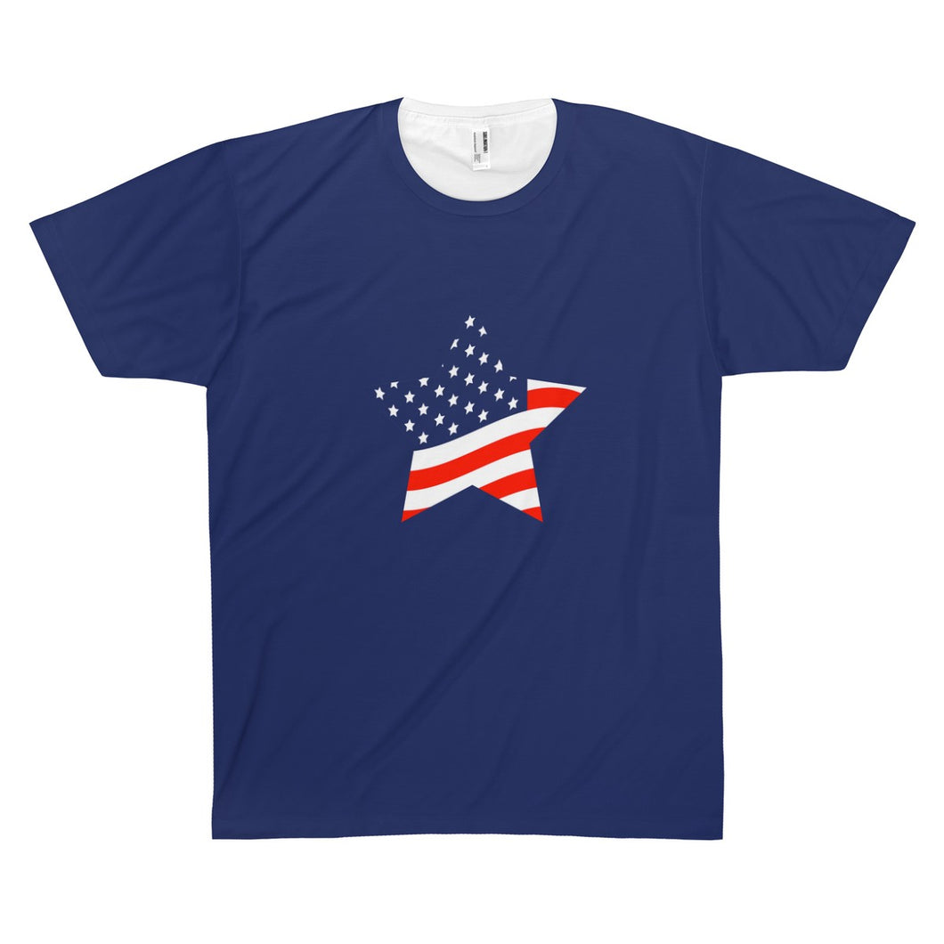 Stars & Stripes Forever Unisex AOP Sublimation Tee - Discount Home & Office