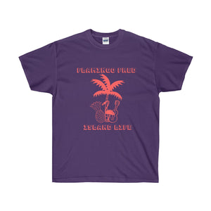 Flamingo Fred Island Life Palm Tree Unisex Ultra Cotton Tee - Discount Home & Office