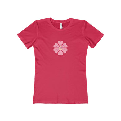 Global Planet Love Day Flower Power Women's The Boyfriend Tee - Discount Home & Office