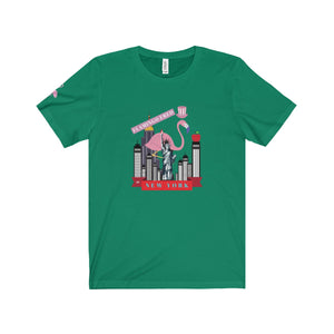 Flamingo Fred in New York Unisex Jersey Tee - Discount Home & Office