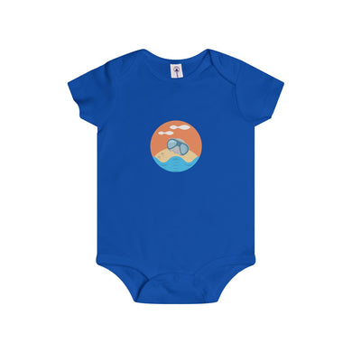 Sandy The Sea Turtle Baby Doing His Thing Infant Rip Snap Tee Onesies - Discount Home & Office