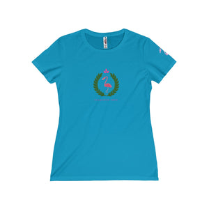 Flamingo Fred Wreath Women's Missy Tee - Discount Home & Office
