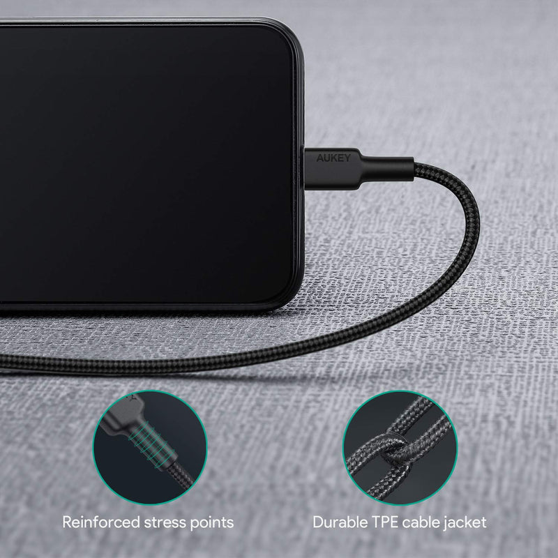 CB-CL1 Impulse MFI Braided Nylon USB C To Lightning Cable - 1 Meter