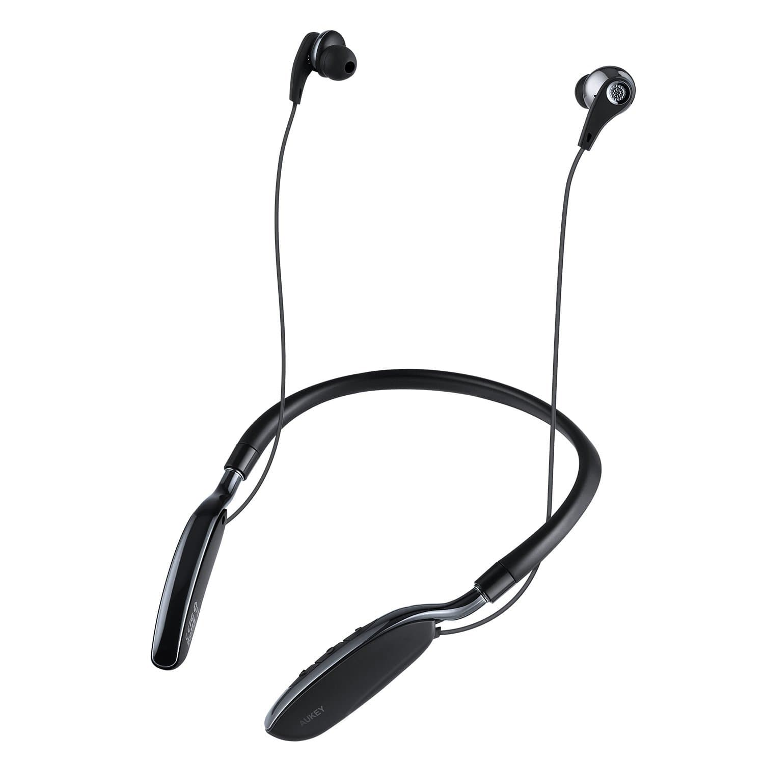 AUKEY EP-B39 Neckband Bluetooth Headset 20-Hour Playtime and Built-In Microphone - Aukey Malaysia Official Store