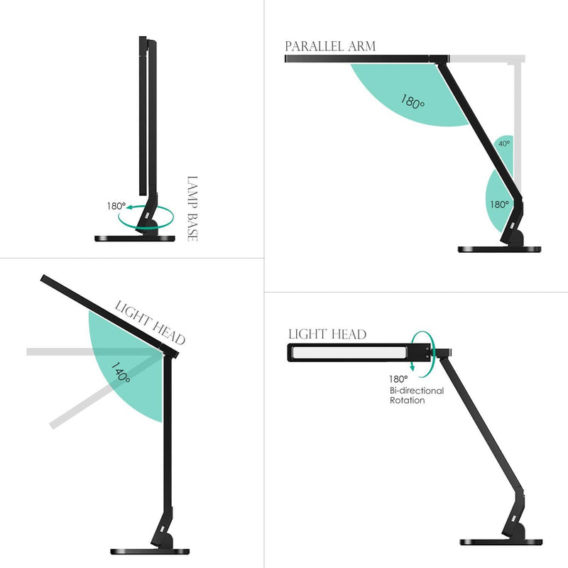 AUKEY LT-T1 Aglaia Dimmable LED 4 Modes Desk Lamp - Aukey Malaysia Official Store