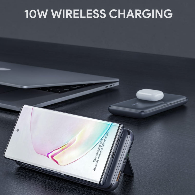PB-WL03S 18W PD SCP QC 3.0 20000mAh Power Bank With Foldable Stand & 10W Wireless Charging