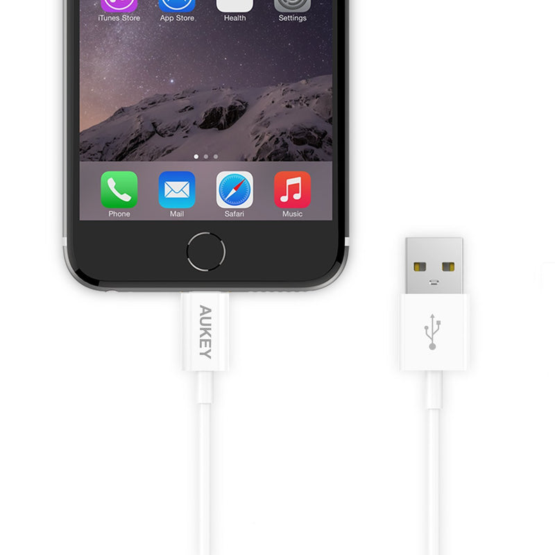 AUKEY CB-D20 MFi Apple Lightning Charge & SYNC Cable - 1 Meter - Aukey Malaysia Official Store
