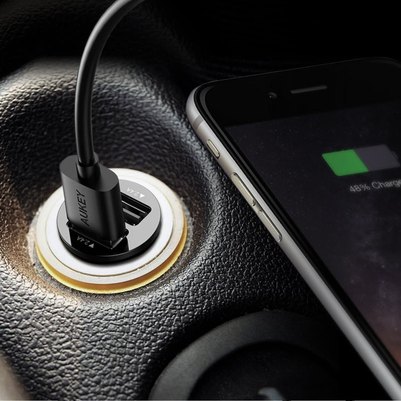 AUKEY CC-S1 Universal True AiPOWER 24W 4.8A Dual Port Car Charger - Aukey Malaysia Official Store