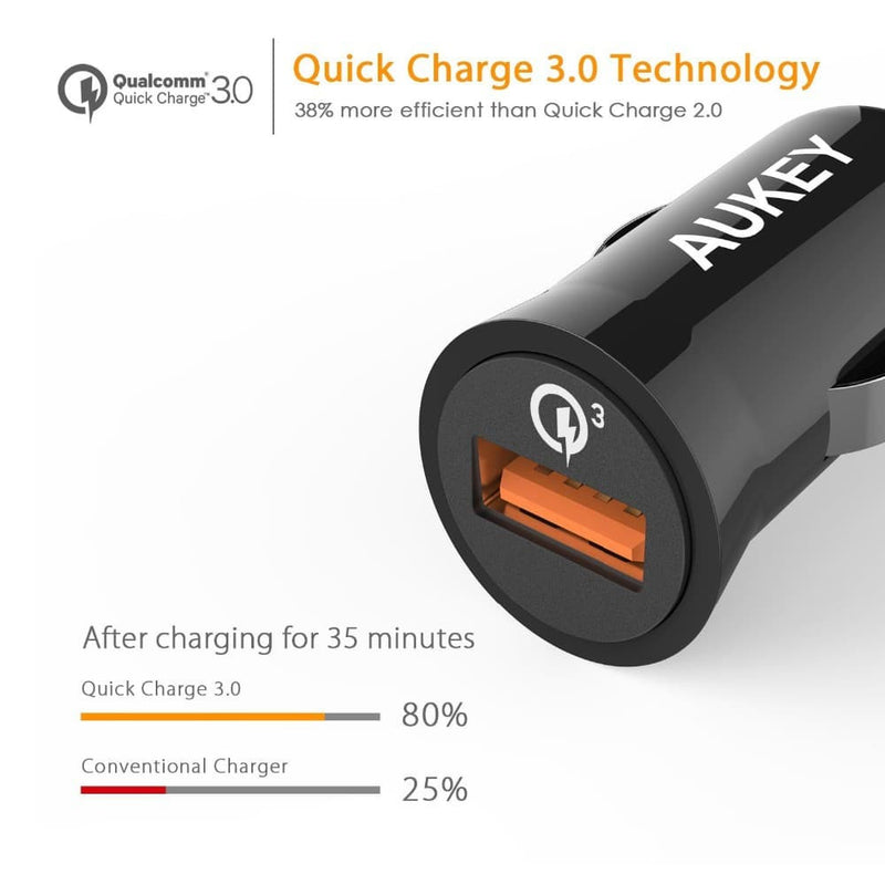 AUKEY CC-T10 Qualcomm Quick Charge 3.0 Car Charger - Aukey Malaysia Official Store