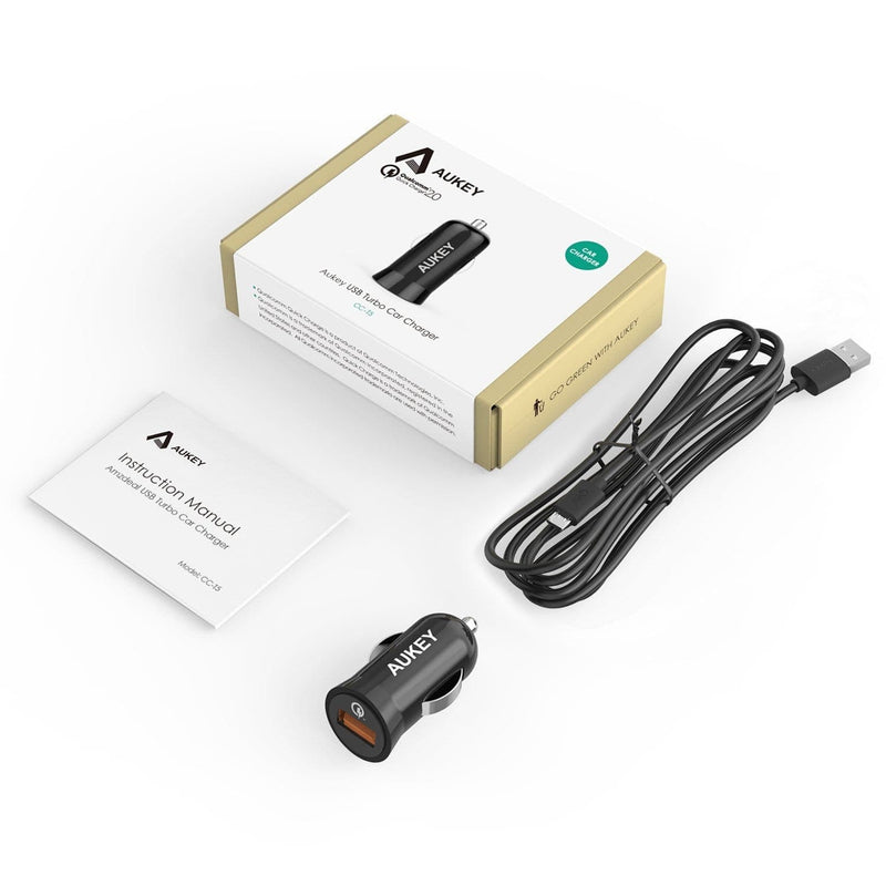 AUKEY CC-T5 18W Qualcomm Quick Charge 2.0 Car Charger - Aukey Malaysia Official Store