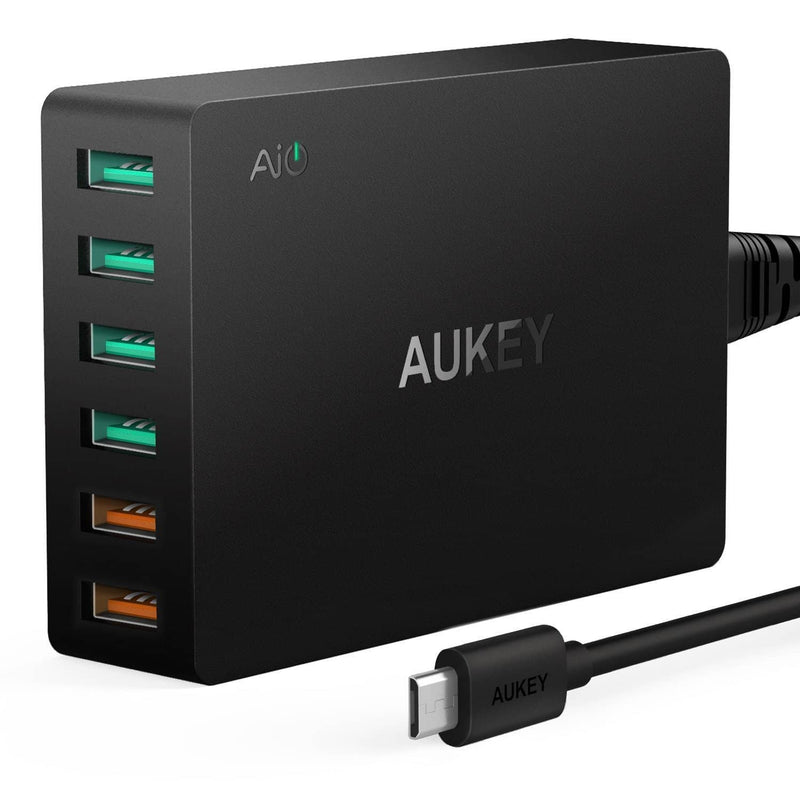 AUKEY PA-T11 6 USB Port Qualcomm Quick Charge 3.0 Desktop Charger - Aukey Malaysia Official Store