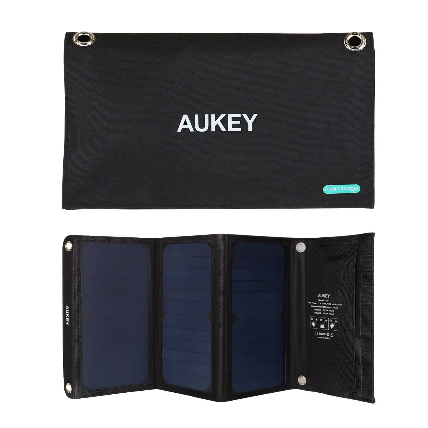 PB-P4 21W Dual USB port Outdoor Solar Panel Charger