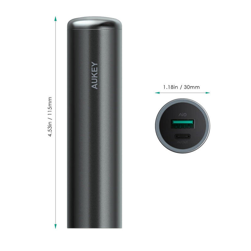 AUKEY PB-Y5 5000mAh USB-C Power Bank With AiPOWER Technology - Aukey Malaysia Official Store
