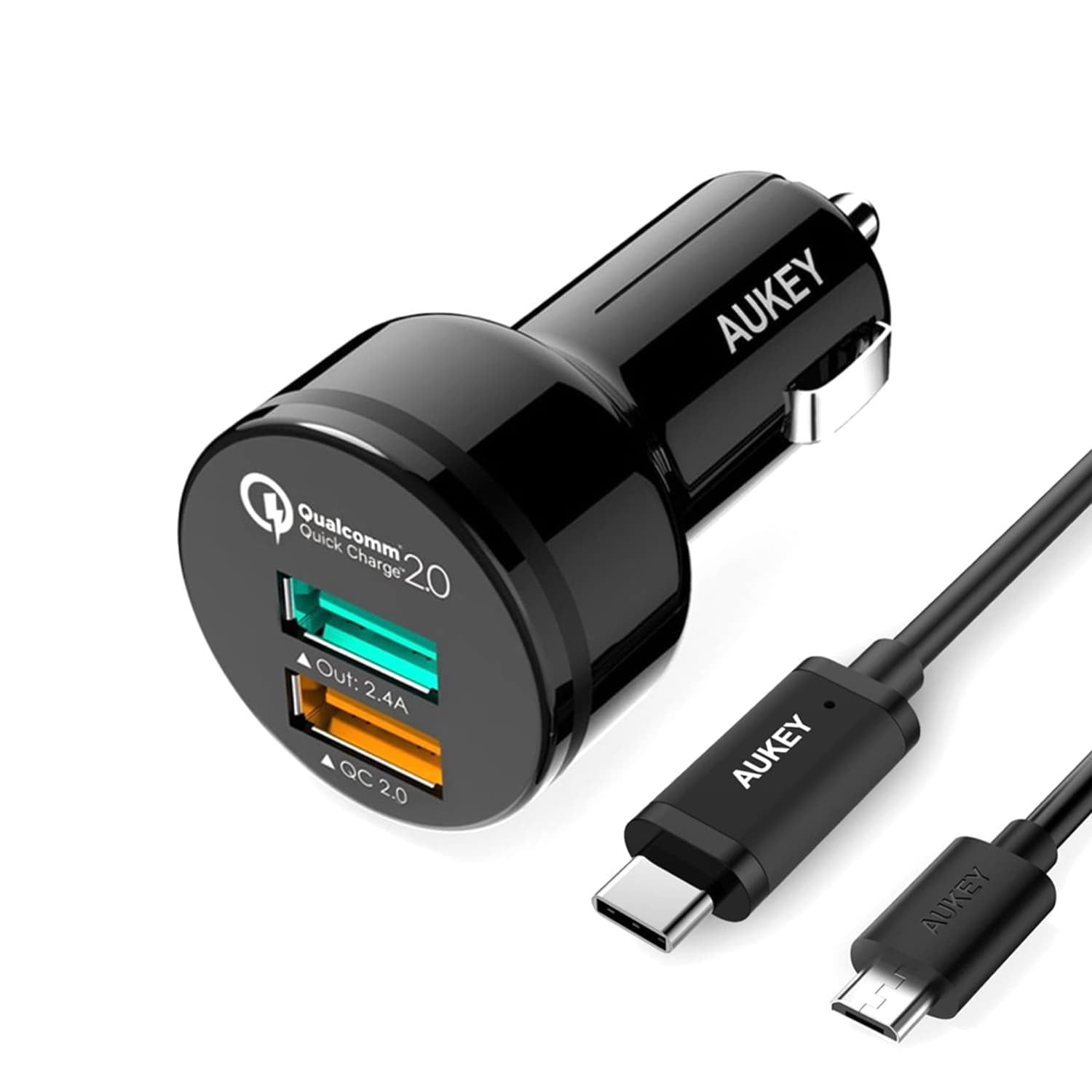 AUKEY CC-Y5 Qualcomm Quick Charge 2.0 Car Charger - Aukey Malaysia Official Store