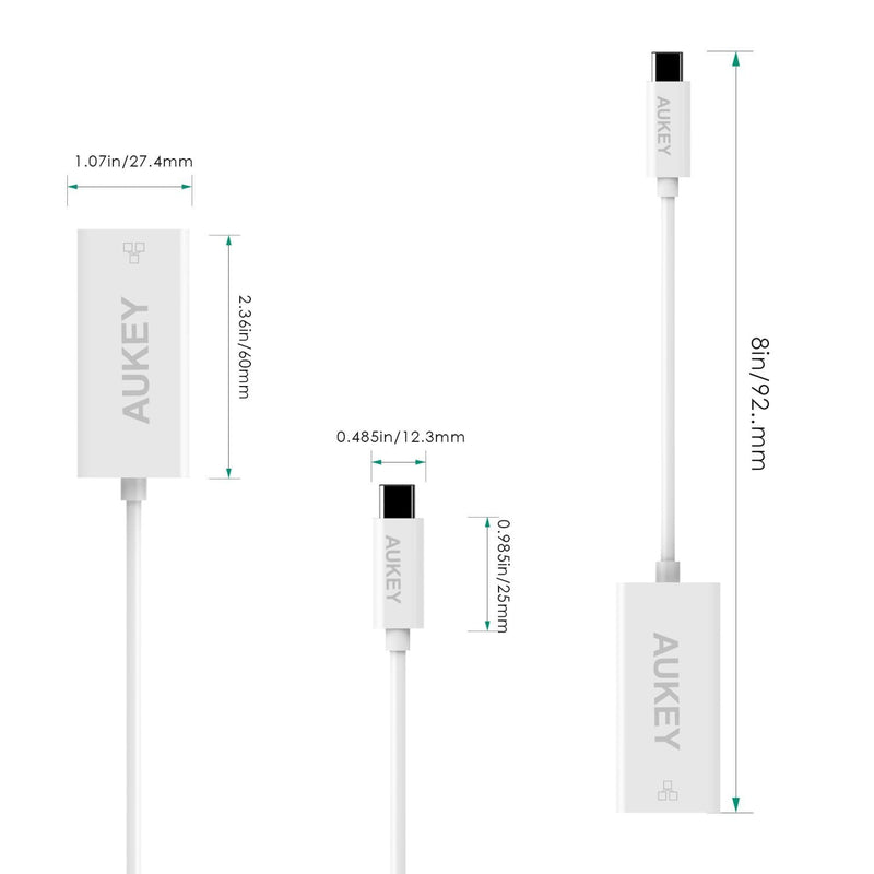 AUKEY CB-C13 USB C to RJ45 Ethernet Adapter - Aukey Malaysia Official Store