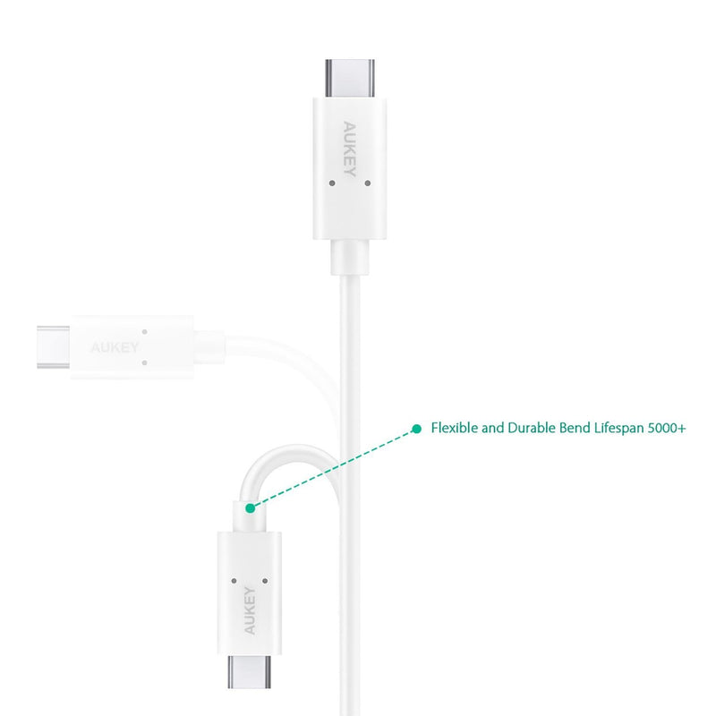 AUKEY CB-D36 USB-C To USB-C USB 3.1 Charging Cable - 2 Meter - Aukey Malaysia Official Store