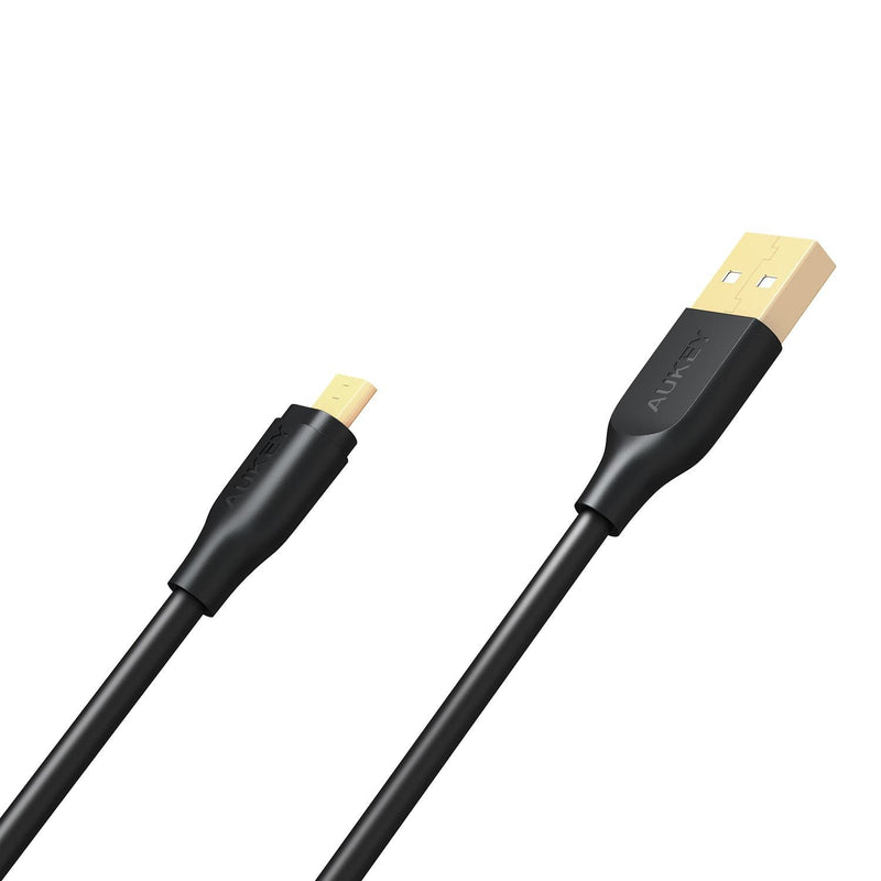 AUKEY CB-MD2 Gold-plated reinforced Qualcomm Quick Charge 2.0/3.0 Micro USB Cable (2M) - Aukey Malaysia Official Store