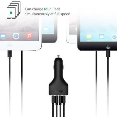 AUKEY CC-01 9.6A 48W 4-Port USB Car Charger with AiPower Adaptive Charging - Aukey Malaysia Official Store
