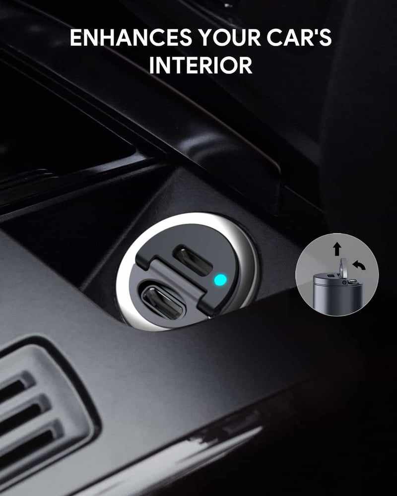 CC-A4 Dual Port USB-C 30W PD Car Charger
