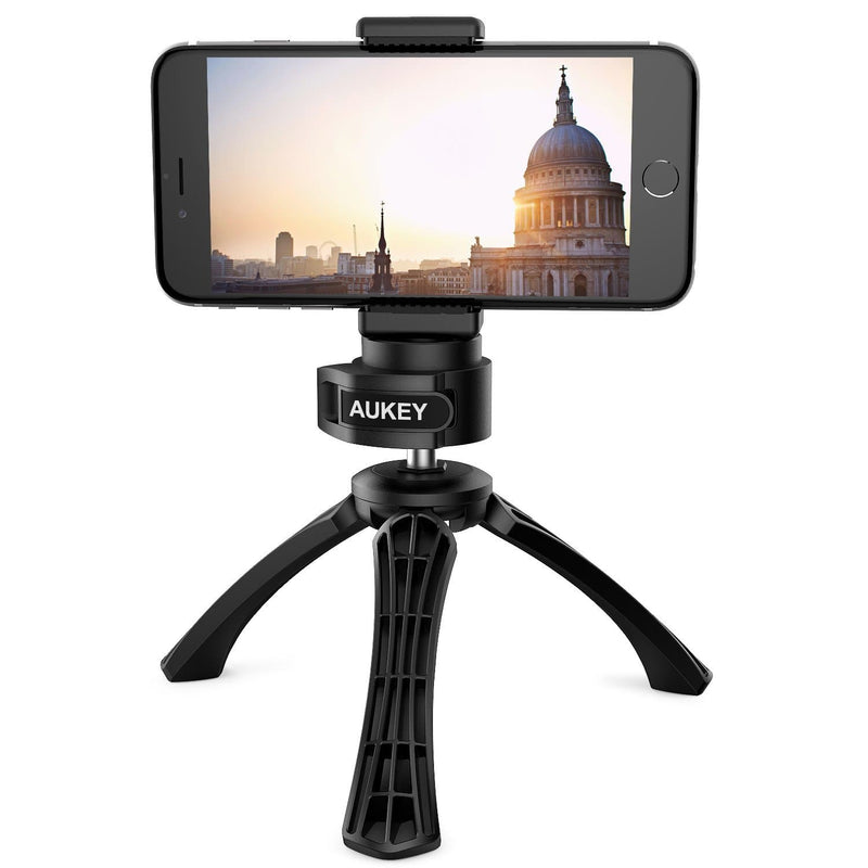 AUKEY CP-T01 Mini Tripod With Smartphone Mount - Aukey Malaysia Official Store