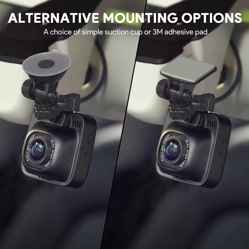 Aukey DR01 Full HD Car Camera Recorder with alternative mounting options