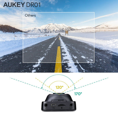 DR01 Full HD 170 Wide Angle Dashboard Camera Recorder