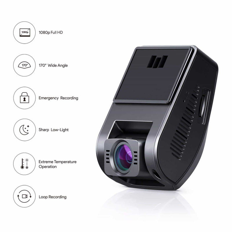 DR02 Full HD 170 FOV Wide Angle Night Vision Dashboard Camera Recorder