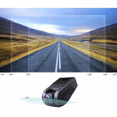 DR02J 4K 157 FOV Wide Angle Night Vision Dashboard Camera Recorder