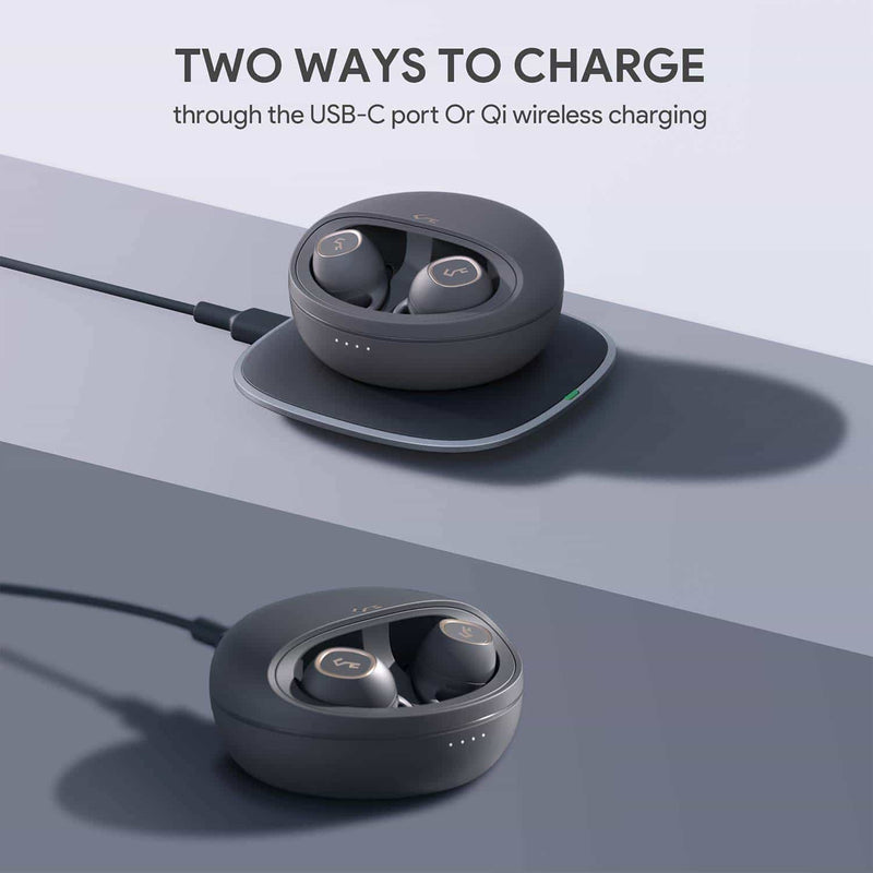 EP-T10 Key Series IPX5 BT 5.0 TWS True Wireless Earphone with Touch Control & Qi Wireless Charging